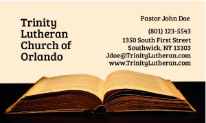 business cards for pastors