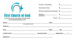 Church of God Envelope