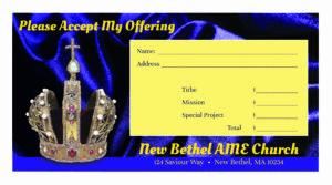 modern church business cards