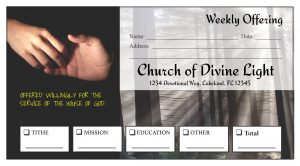 custom church envelopes