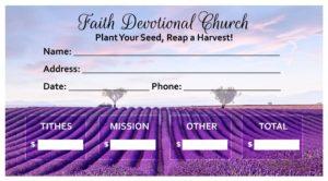 custom printed church offering envelopes