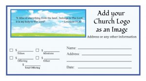 modern church business cards