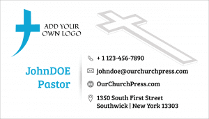 pastor business cards samples