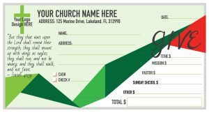 custom printed church offering envelopes