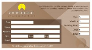 church offering envelope design
