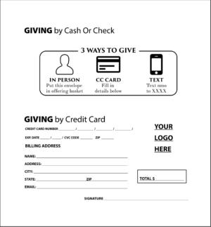 church tithe envelopes printing