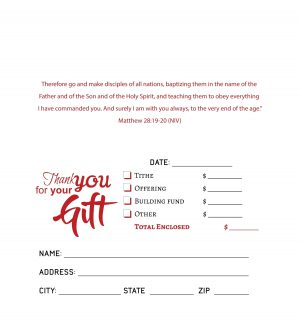 personalized offering envelopes